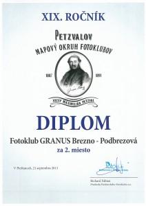 Fotoklub GRANUS v Petzvalovom mapovom okruhu fotoklubov s historickým úspechom