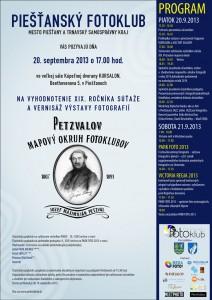 Pozvánka na vyhodnotenie XIX. ročníka Petzvalovho mapového okruhu fotoklubov a PARK FOTO 2013